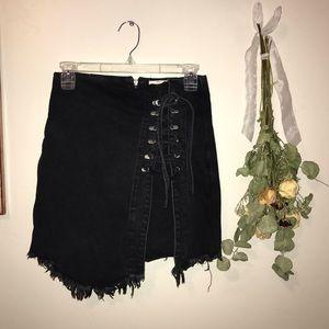 Black corset wrap skirt